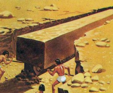 Возможно, именно так проводилась вырубка блоков для строительства пирамид
